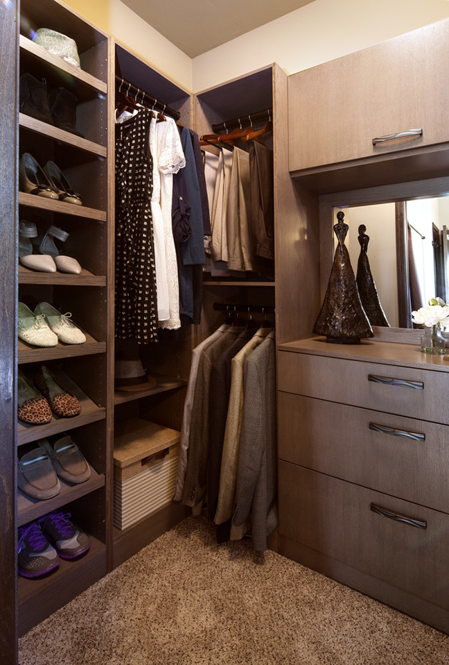 Stained Closet Cabinets in Rockport by ShowplaceEVO - view 1