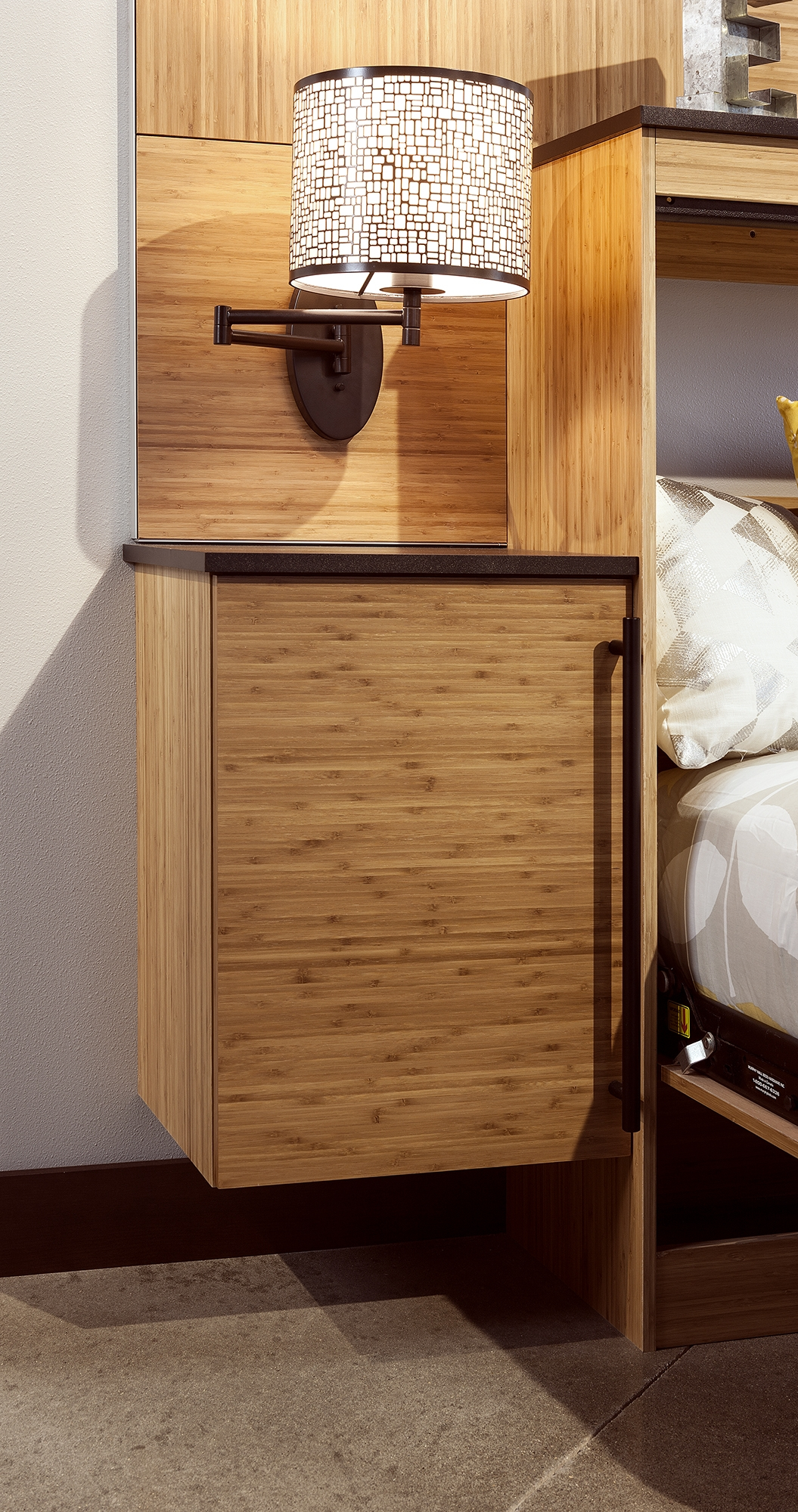 Stained Murphy Bed and cabinets in Bamboo Natural by ShowplaceEVO - view 3