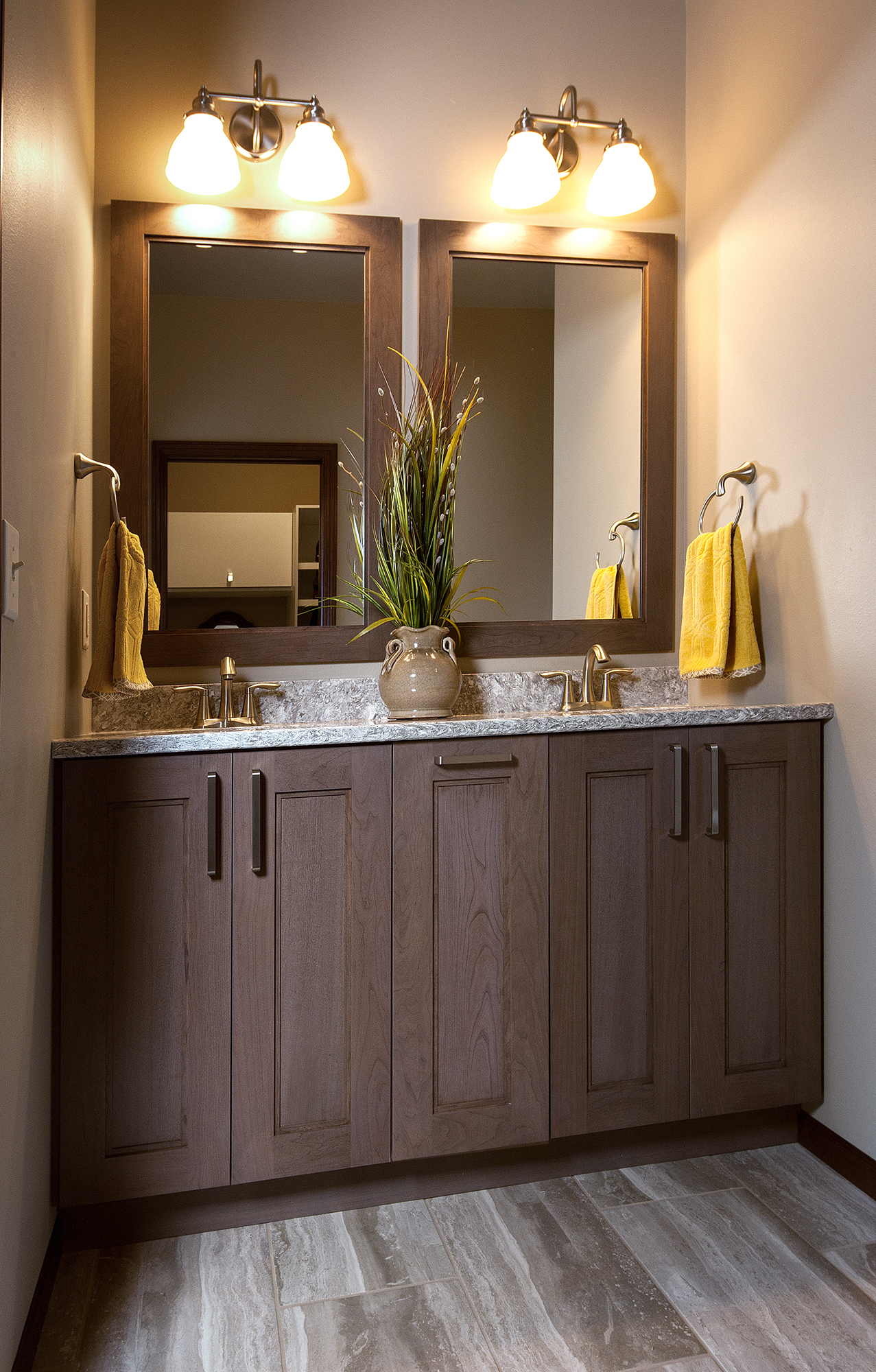 Stained Bathroom Cabinets in Rockport by ShowplaceEVO