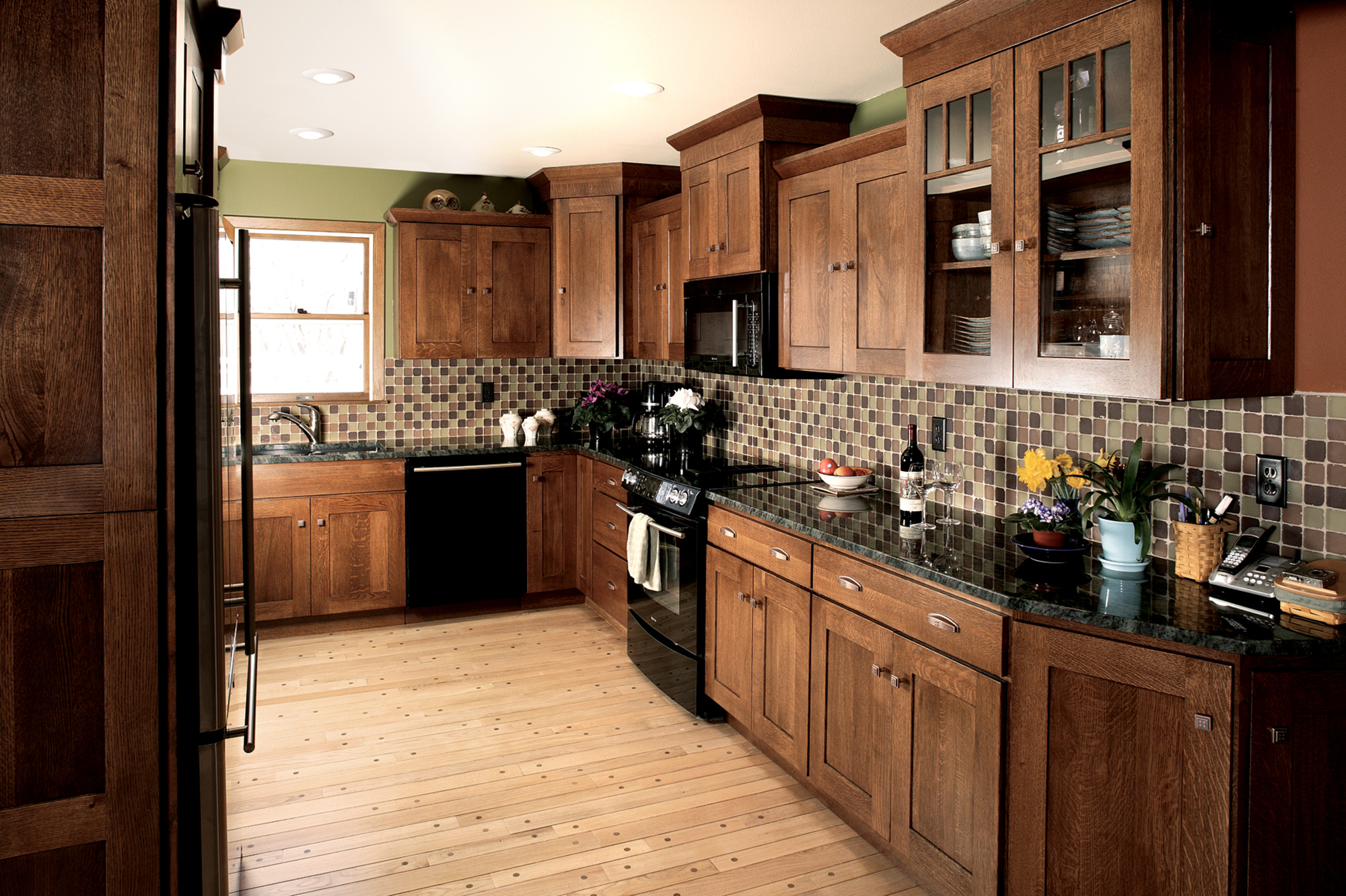 See This Mission Themed Country Kitchen Showplace Cabinetry