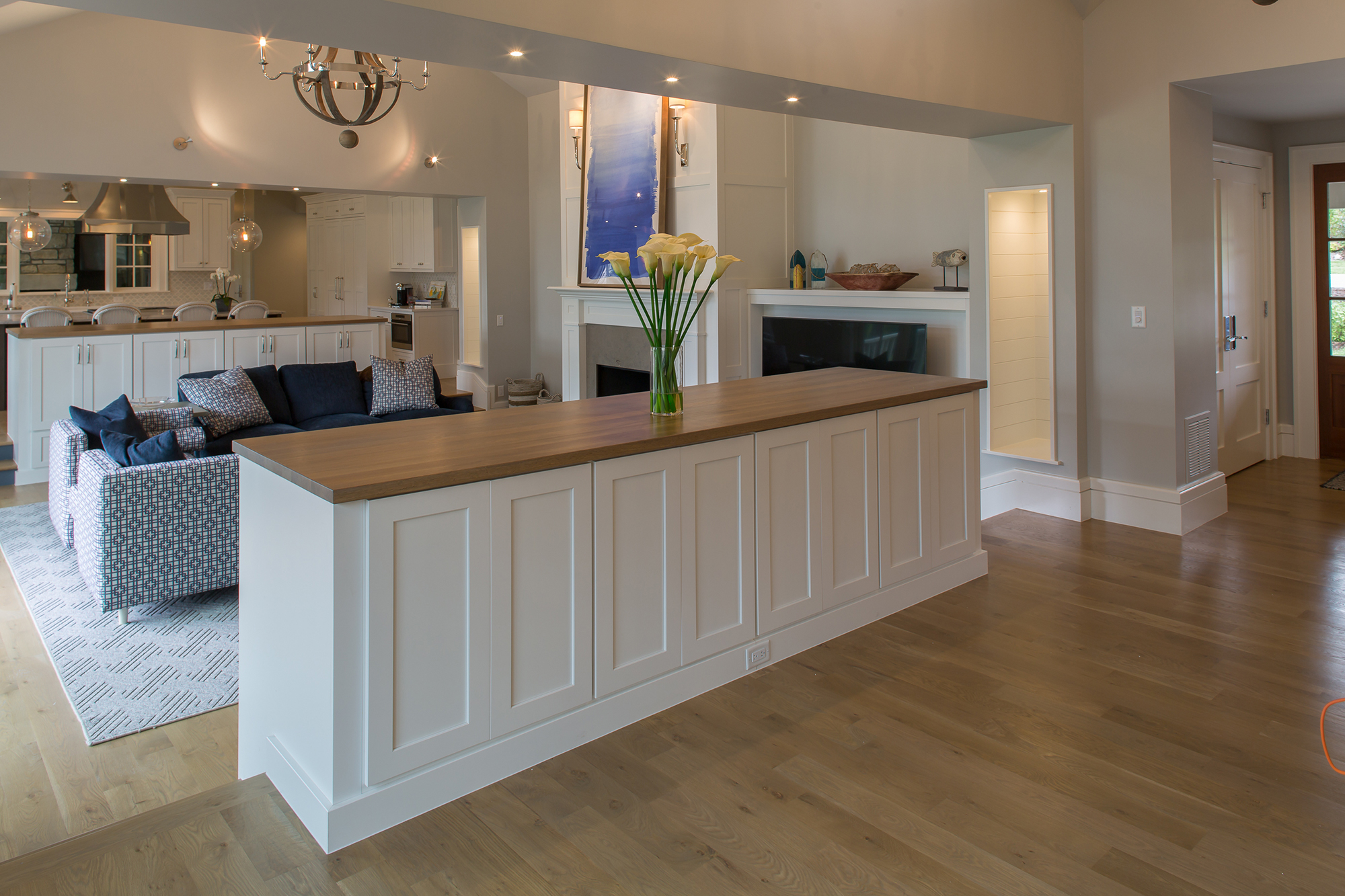Painted Family Room Cabinets in White by Showplace Cabinetry - View 1