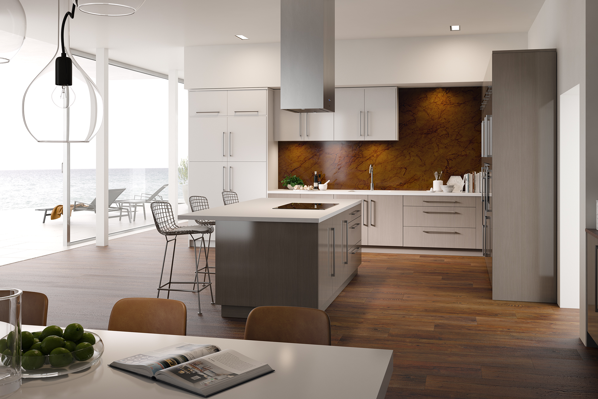 Contemporary White Kitchen Cabinets Showplace Cabinetry
