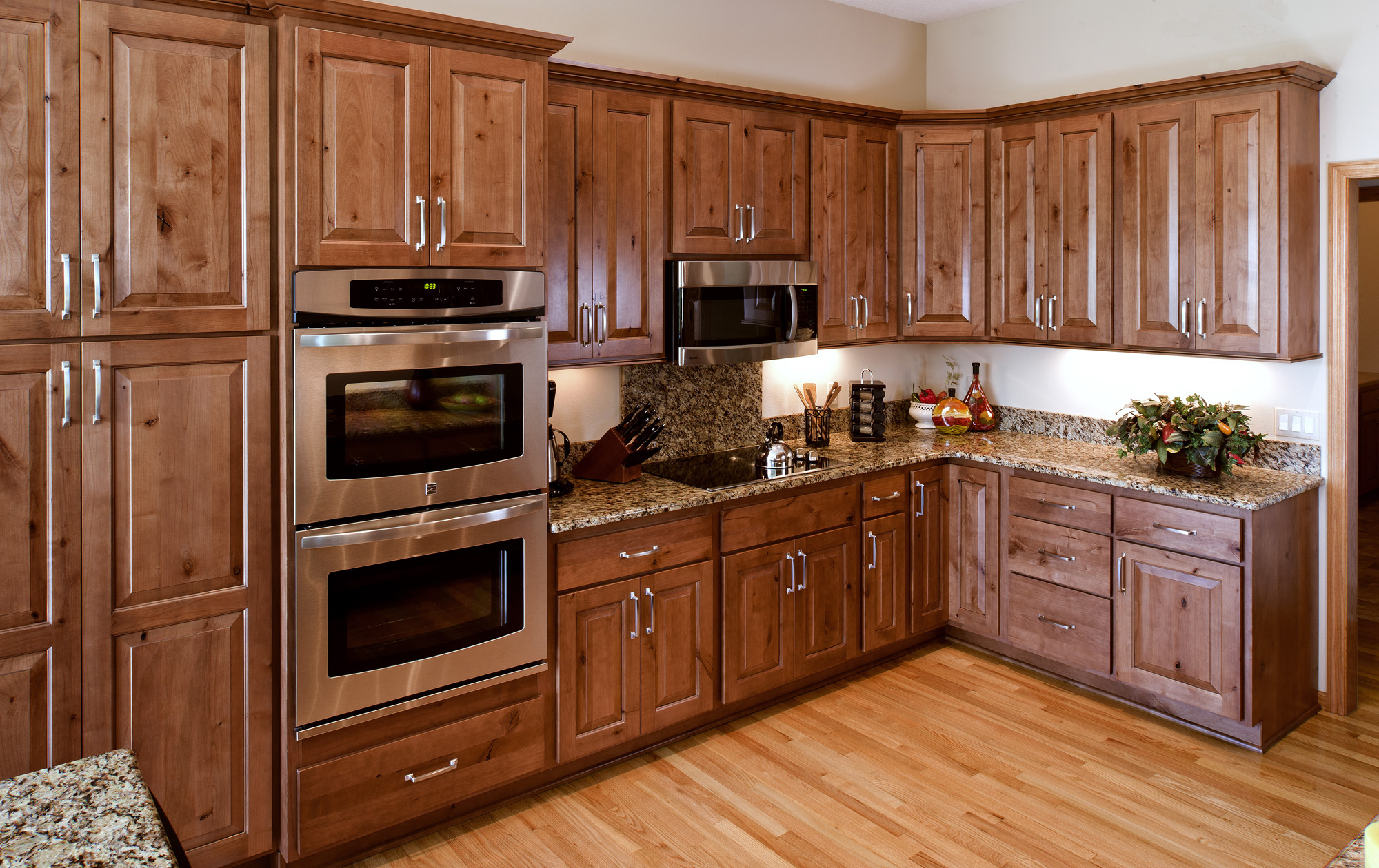 See This Comfortable Refaced Kitchen