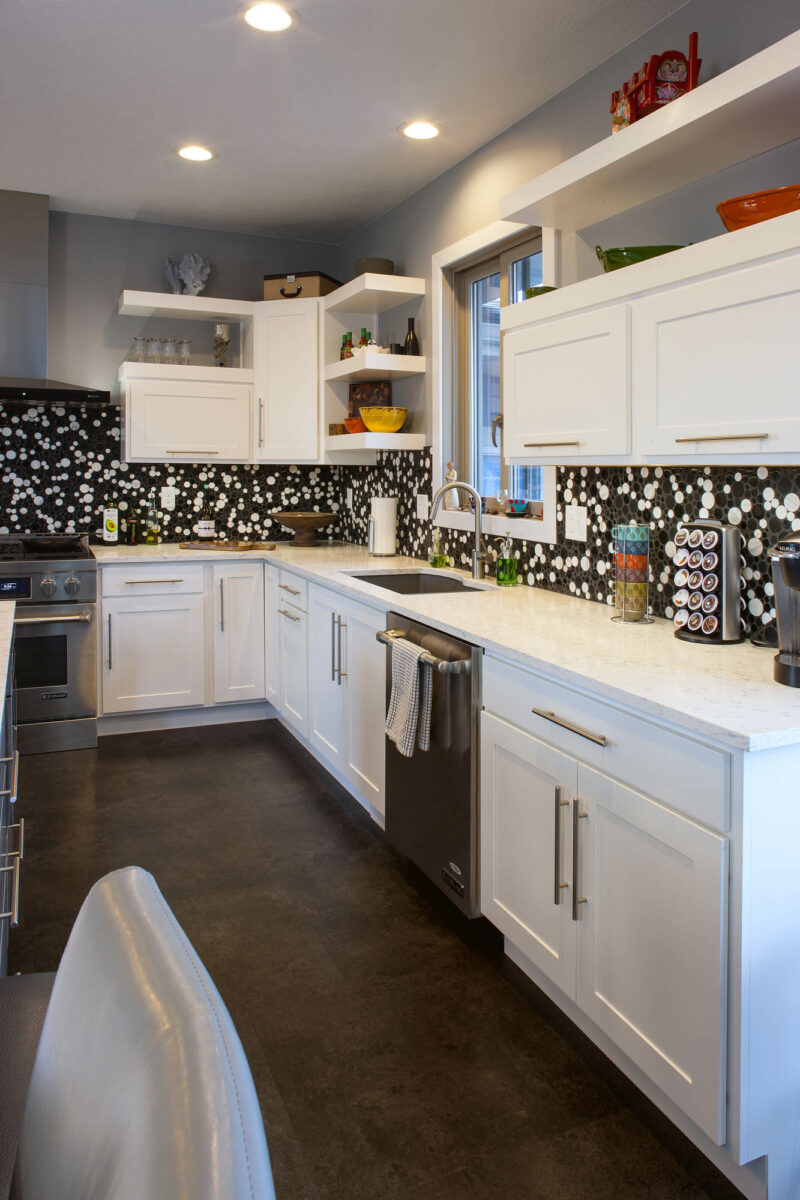 View this modern geometric kitchen | Showplace Cabinetry
