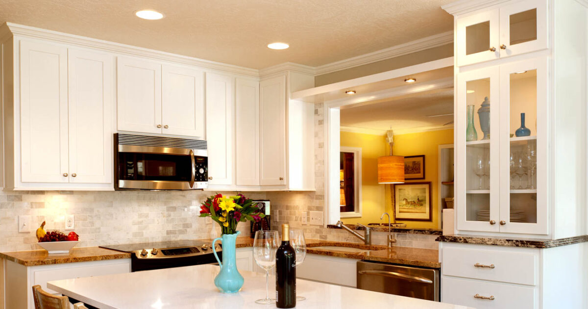 Renew | Painted Kitchen Cabinets In White By Showplace Cabinetry  Feature