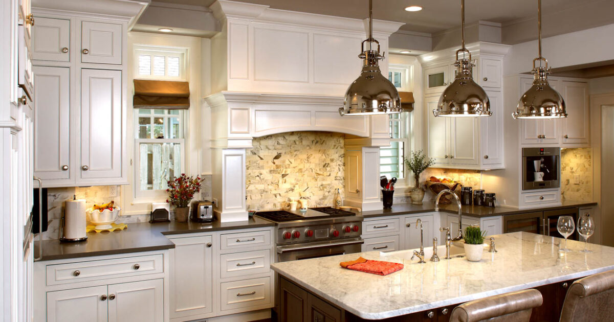 Painted Kitchen Cabinets In White By Showplace Cabinetry   Feature