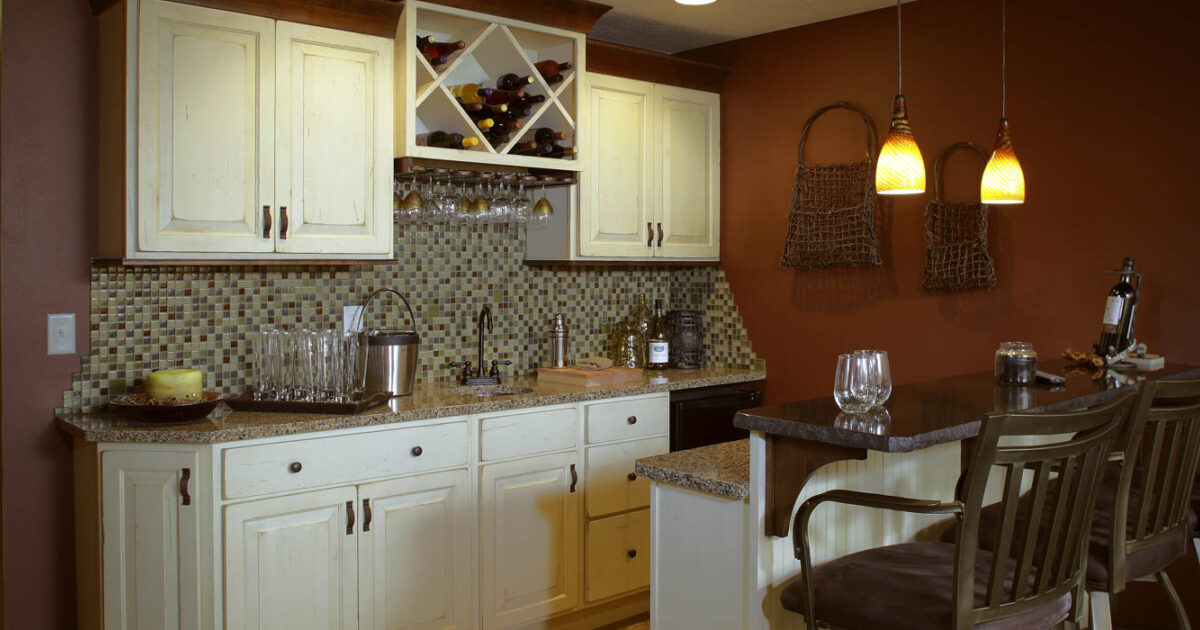See This Lower Level Family Room Wet Bar Showplace Cabinetry