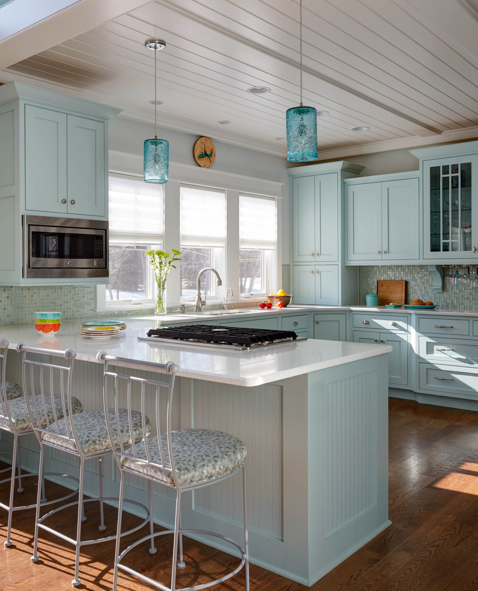 View This Custom Color Painted Kitchen
