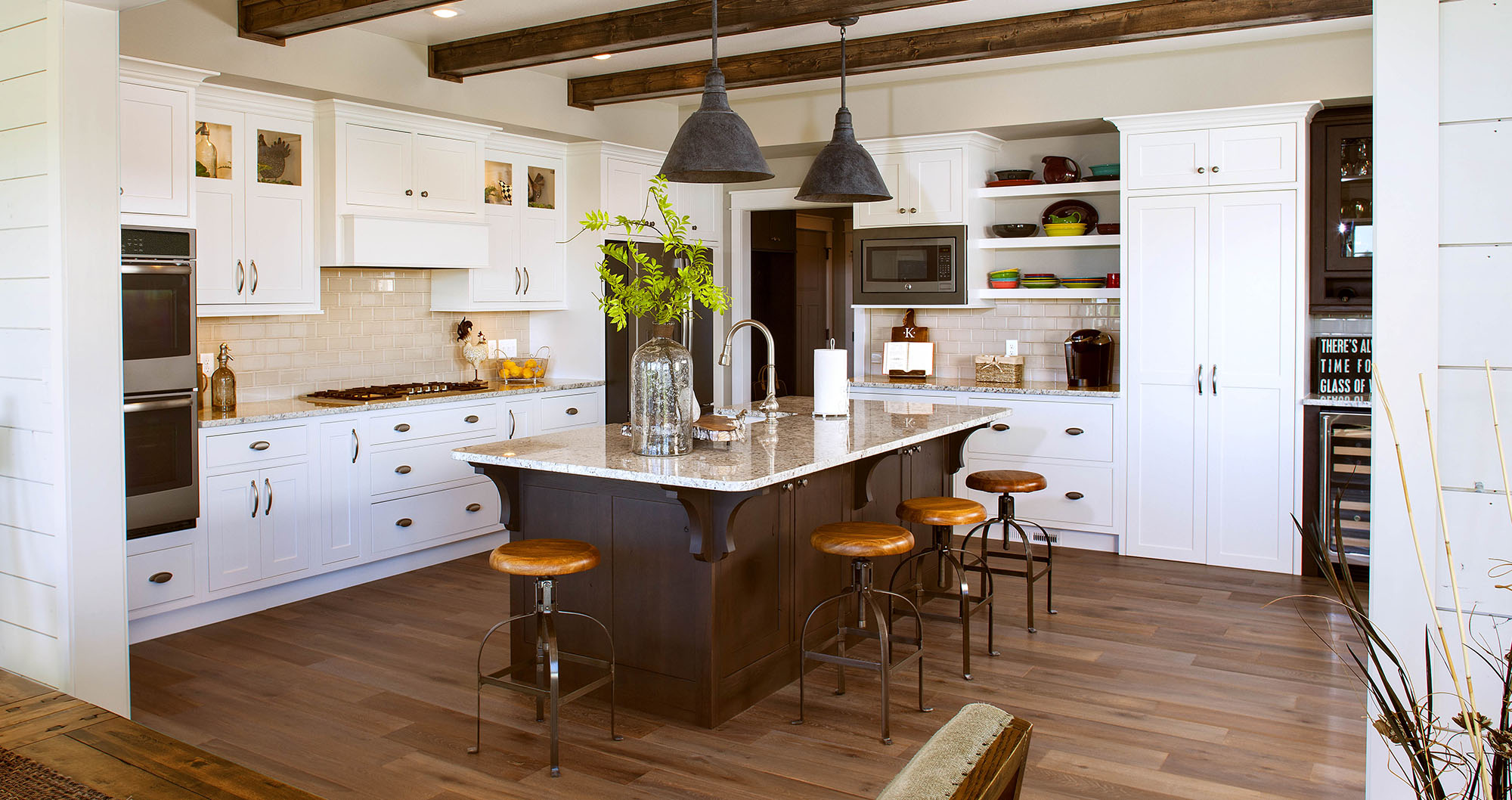 Painted Kitchen Cabinets In White By Showplace Cabinetry  View2