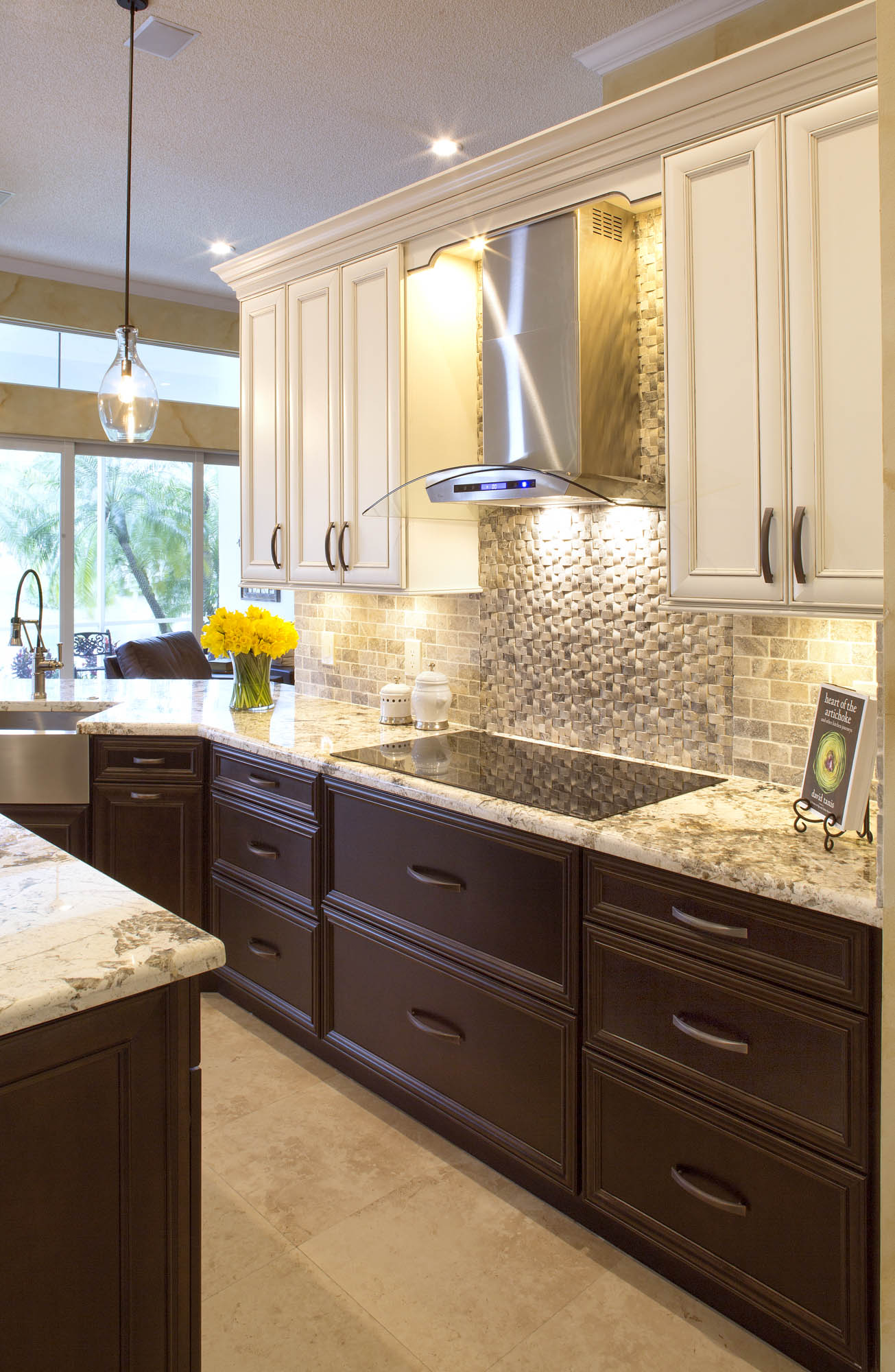 Stained Kitchen Base Cabinets In Espresso By Showplace Cabinetry   View 1