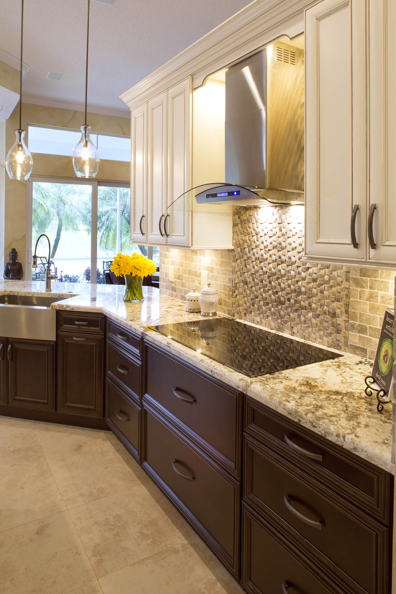 Stained kitchen base cabinets in Espresso by Showplace Cabinetry - view 2