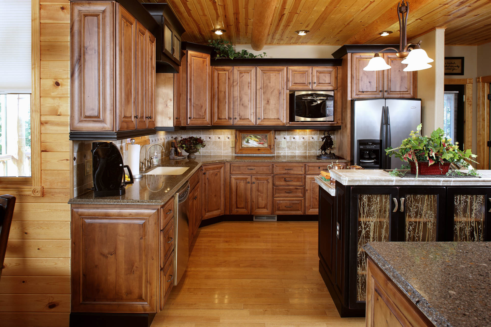 Renew | Stained kitchen cabinets in Vintage Nutmeg by Showplace Cabinetry - view 2