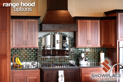 The soaring Chimney Range Hood is offered in a wide range of sizes.