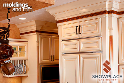 Several moldings harmonize in this soaring creation, and are highlighted with a contrasting carved molding.
