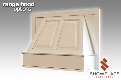 The Fashion Range Hood is offered in door-style-specific versions.