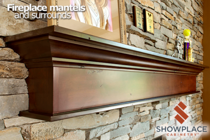 A custom Showplace mantel can be created to fit your space and style.