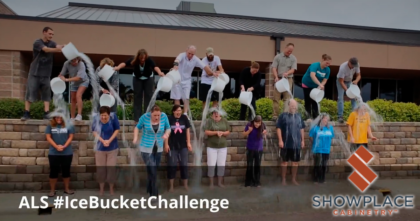 The Showplace customer relations team accepted the ALS ice bucket challenge
